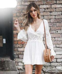 Weißes Kleid Hippie Stil Bohemian chic