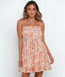 Rosa Hippie kurzes Kleid